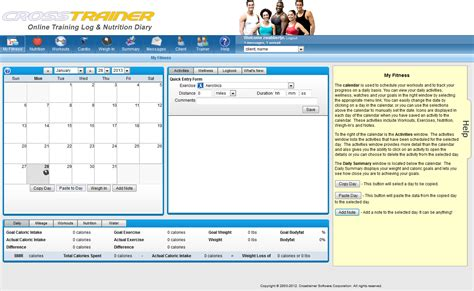 Fitness Software by Weekly Meal Plans For Family Fitness Trainer Software