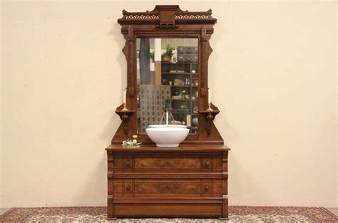 Antique Dresser Vanity Victorian 1880 Antique Dresser Or Vessel Sink Vanity
