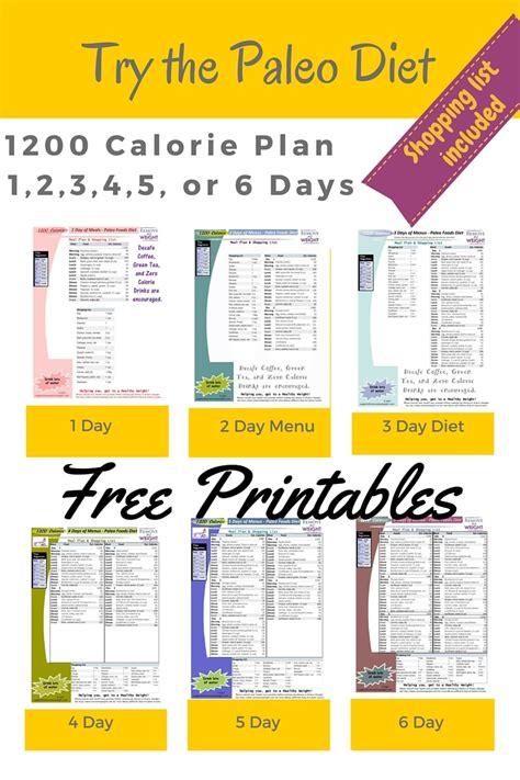 Galerry printable paleo diet plan