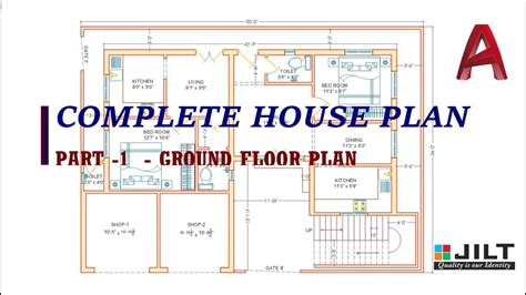 Ground Floor Plan Part  Complete Dimensions Youtube