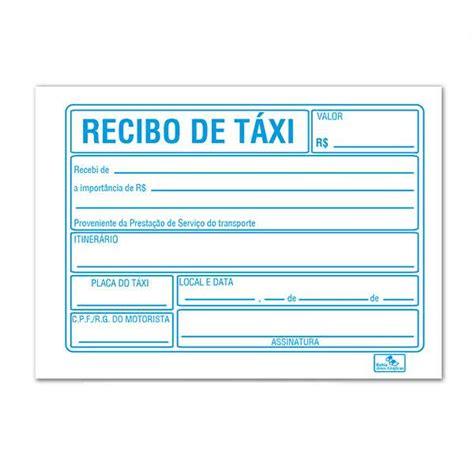 recibo de taxi mexico recibo de taxi para imprimir