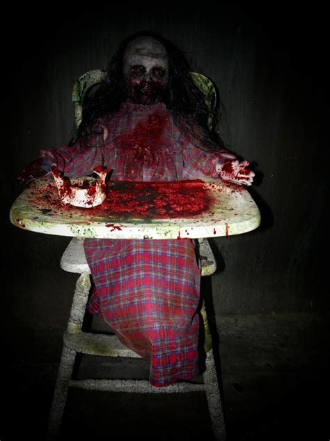 halloween decorations for the home feed me franny zombie girl with high chair