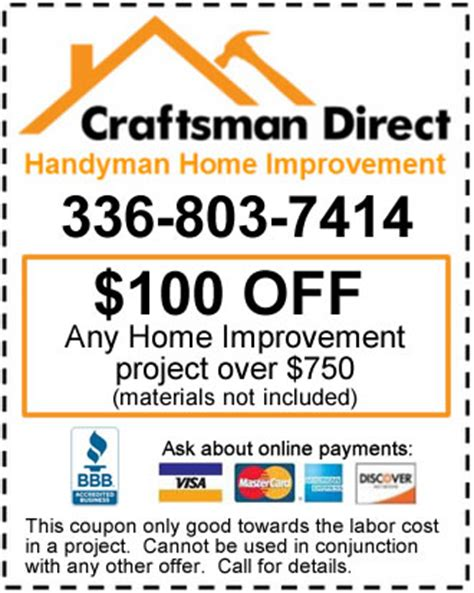 saving home improvement coupons craftsman direct