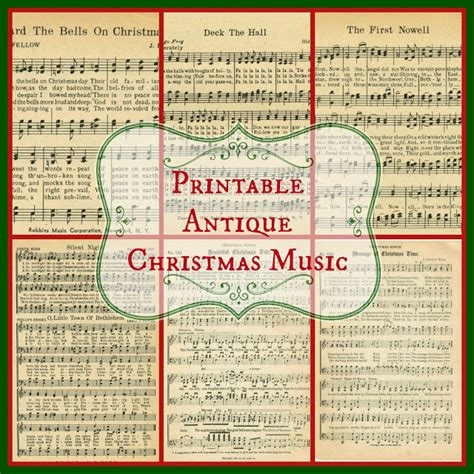 free printable vintage christmas sheet music christmas music pages loads of free pages knick of time