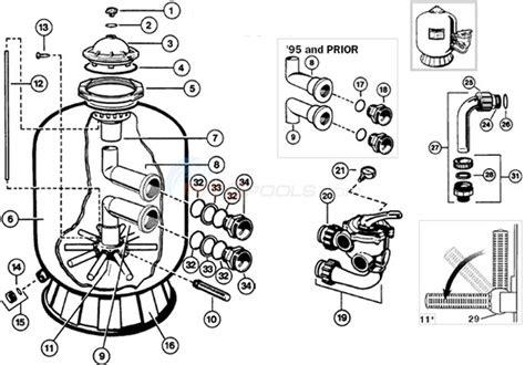 sand filter parts diagram hayward pro series side mount sand filter parts