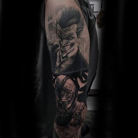 joker sleeve tattoo designs collection of 25 batman vs joker comic design