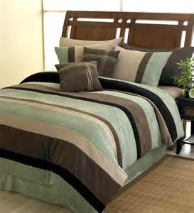 moss jacaranda striped bedding microsuede 6 pc luxury bed