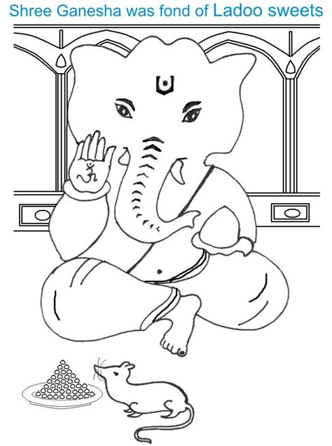free coloring pages of lord ganesh