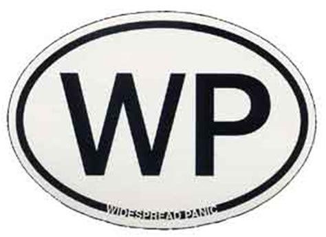 widespread panic oval black  white sticker leeways home grown  network