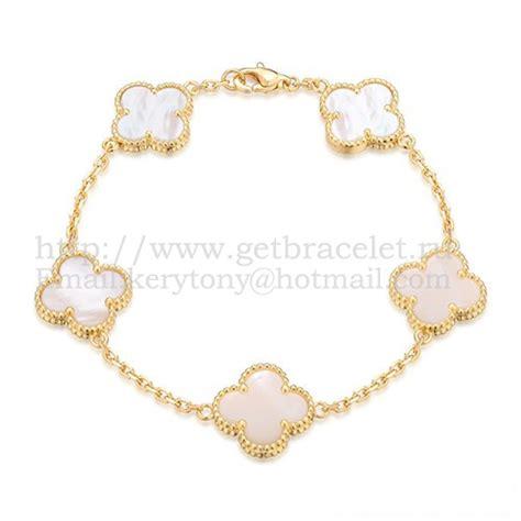vintage van cleef arpels replica white gold bracelet malachite round diamonds p368 van cleef arpels vintage alhambra bracelet 5 motifs
