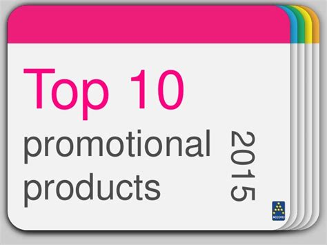 Most Popular Giveaways - top 10 promotional products 2015