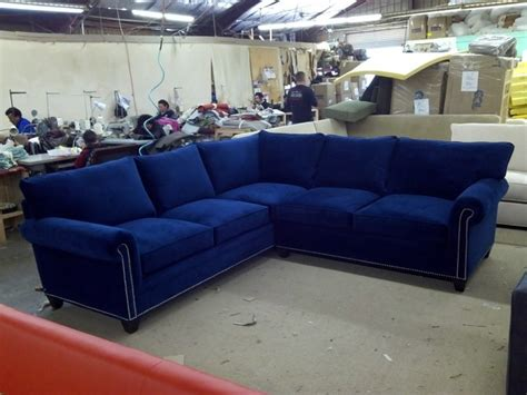 royal blue sectional amazing da vinci velvet button tufted left facing