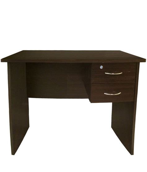 study table for 2 study table with 2 drawers in brown buy at best