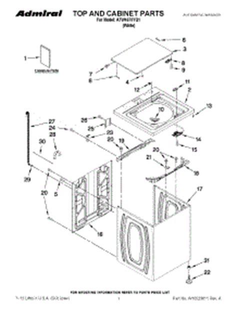 admiral washing machine parts diagram parts for admiral atw4675yq1 washer appliancepartspros