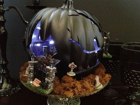 haunted house diorama flickr photo sharing the spooky world of halloween pumpkin dioramas the lone