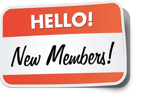 The Member welcome new members