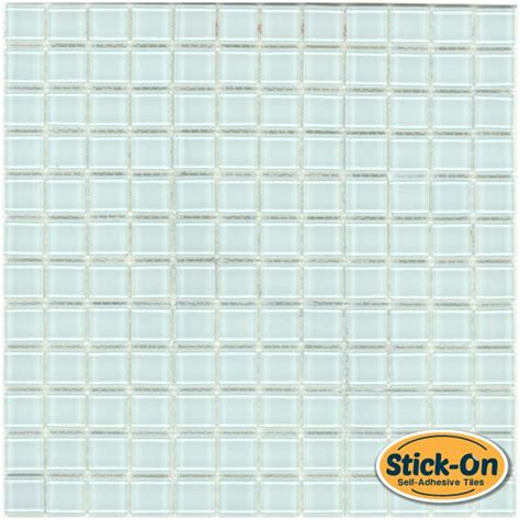Clearance Tile Backsplash - peel and stick clear glass tile pure ice