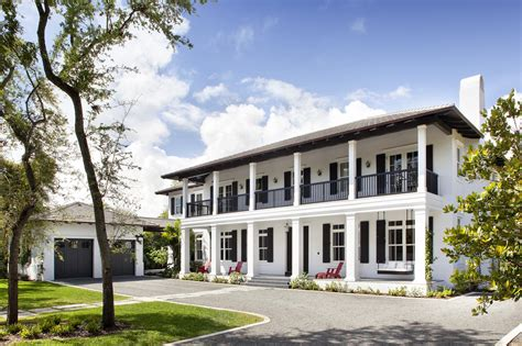 plantation style architecture neoclassical style miami home with pool pavilion