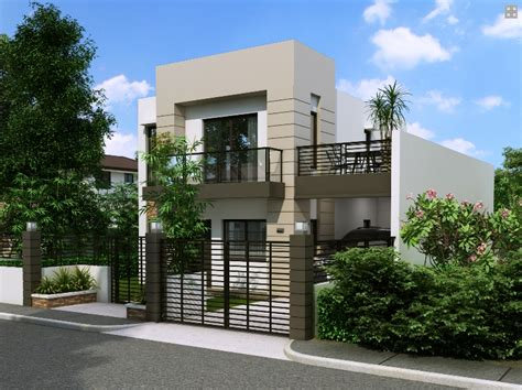 Elegant House With Small Balcony Amazing Architecture House Design For Small Lot Area In The Philippines