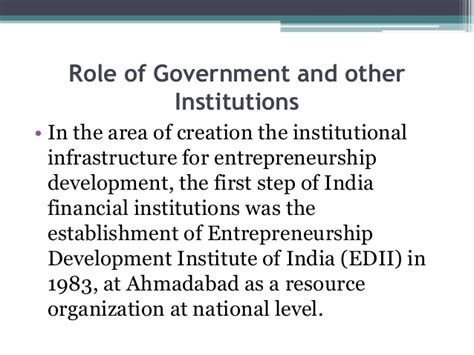 Mba In Entrepreneurship In India by Institutions In Aid Of Entrepreneurs