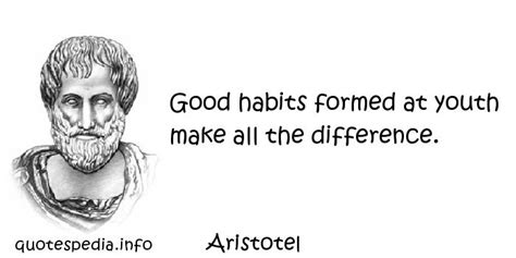 Habits Formed At Youth Make All The By Aristotle Like Success quotes reflections aphorisms quotes about