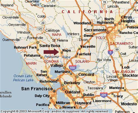 california map napa sonoma map of napa california california map