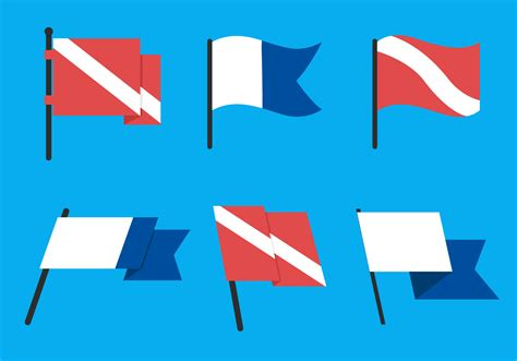 dive flag dive flag vector pack free vector stock