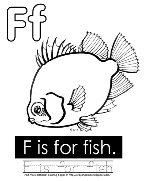 F Is For Fish Coloring Page Quot F Is For Fish Quot Alphabet Coloring Page Crayon Palace by F Is For Fish Coloring Page