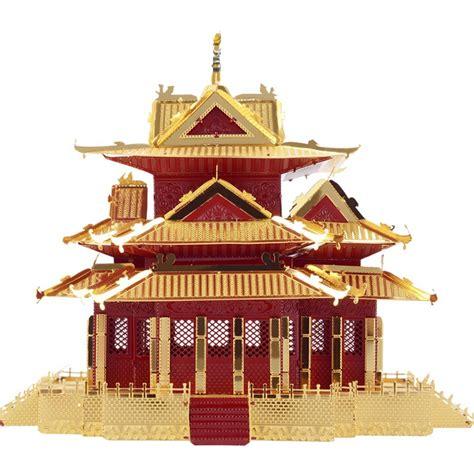 Mini 3d Metal Puzzle Ancient Architecture diy mini 3d metallic nano puzzle ancient architecture pavilion of prince teng