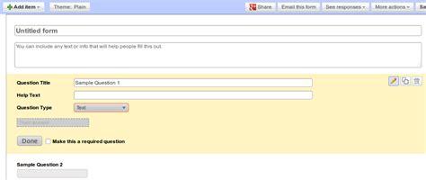 design form google docs blogger buster create a contact form with google docs