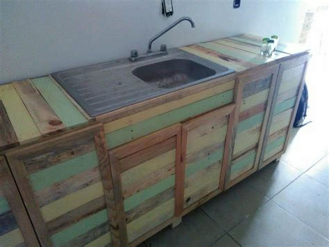 Diy Wood Kitchen Countertops by Pallet Wood Kitchen Counter With Sink 101 Pallets