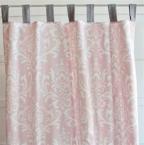 Pink And White Curtains Pink And White Blackout Curtains Home Design Ideas