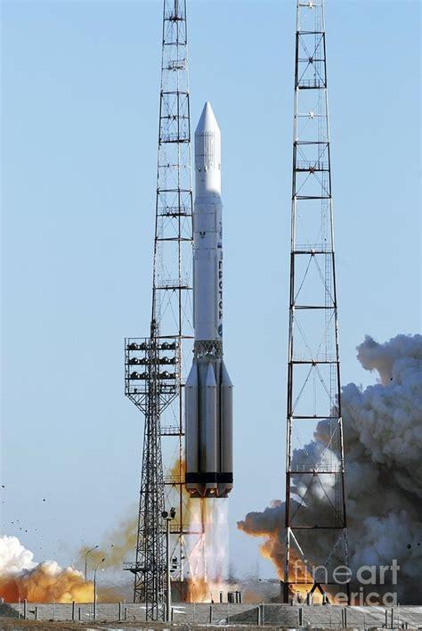 Proton Rocket Launch by Proton Rocket Launch Photograph By Ria Novosti