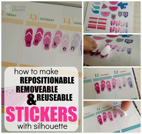 How To Make Stickers With Sticker Paper - how to make silhouette planner stickers repositionable