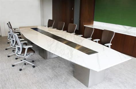marble conference room table modern conference table white custom white marble