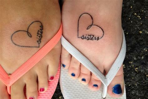 matching heart tattoos 24 tattoos on foot