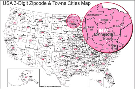 map usa states cities zip codes usa 3 digit zip code map state boundaries map