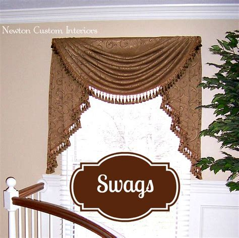 dated window treatments swags newton custom interiors