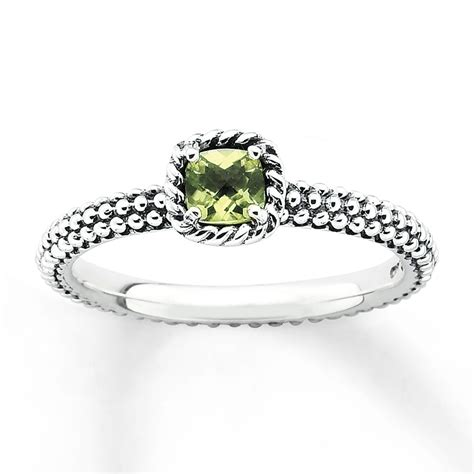 jared stackable peridot ring sterling silver