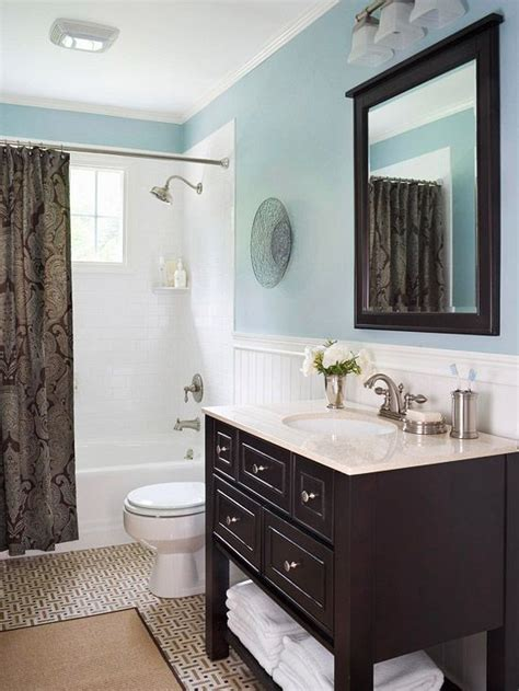 blue bathroom design ideas brown vanities and