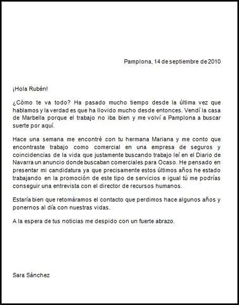 ejemplo de una carta formal este ser 237 a un ejemplo de carta informal espanol
