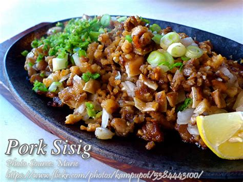 printable pinoy recipes easy pork sisig recipe panlasang pinoy meat recipes