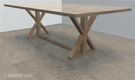 diy table base diy x base dining table free plans sawdust 174