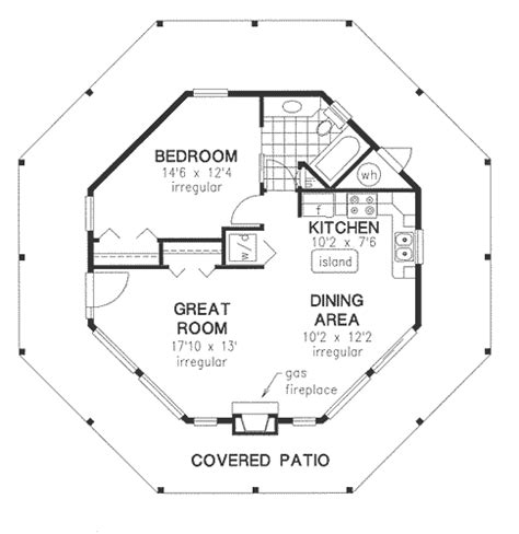 hexagon floor plans adorable octagon house plan hunters