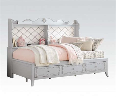 twin day beds edalene gray finish twin day bed