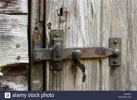Shed Hinges And Locks by Latch And Lock On Shed Door Stock Photo Royalty Free