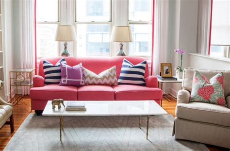 small pink couch 18 pink sofa living room designs ideas design trends