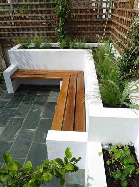 modern white outdoor bench fresh with a touch of cozy the garden bench