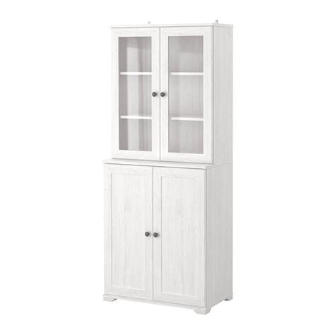 Ikea White Bookcase With Glass Doors Borgsj 214 Shelf Unit With Panel Glass Doors White Ikea