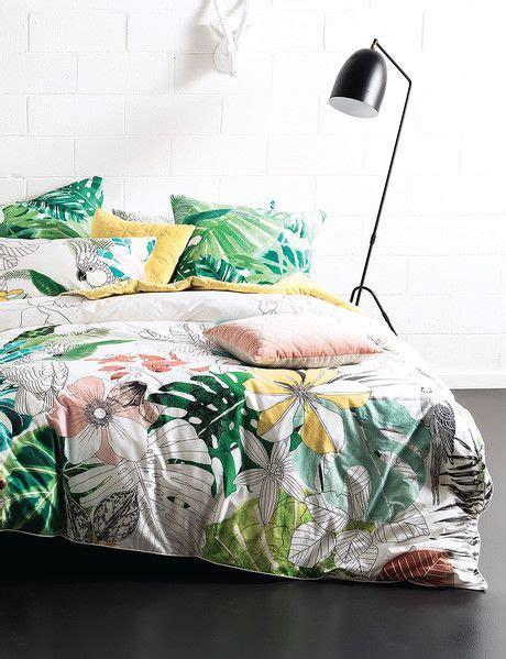 lyrical  fresh  pretty watercolour tropical duvet